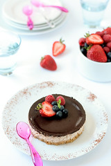 Chocolate Strawberry Cheesecake | by tartelette