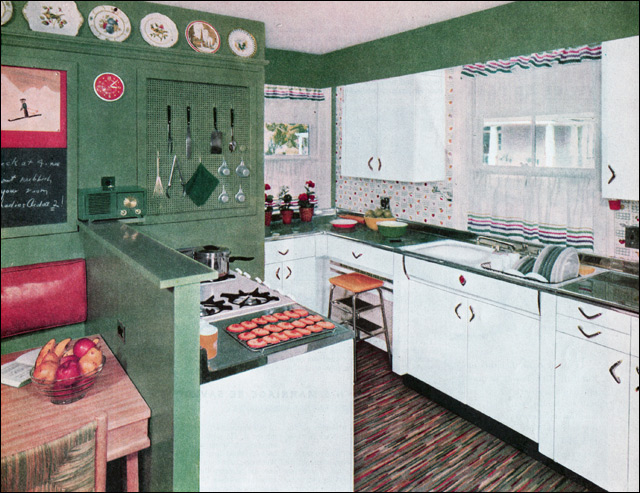 50s kitchen ideas 1954 green amp white kitchen as green goes i am not 10046