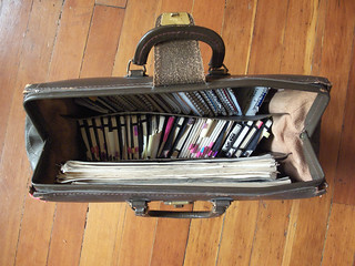 Briefcase full of my notebooks from the past 8 years | by marchorowitz