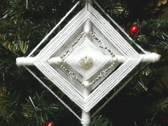 God's Eyes make perfect Tree ornaments | by gingerbread_snowflakes