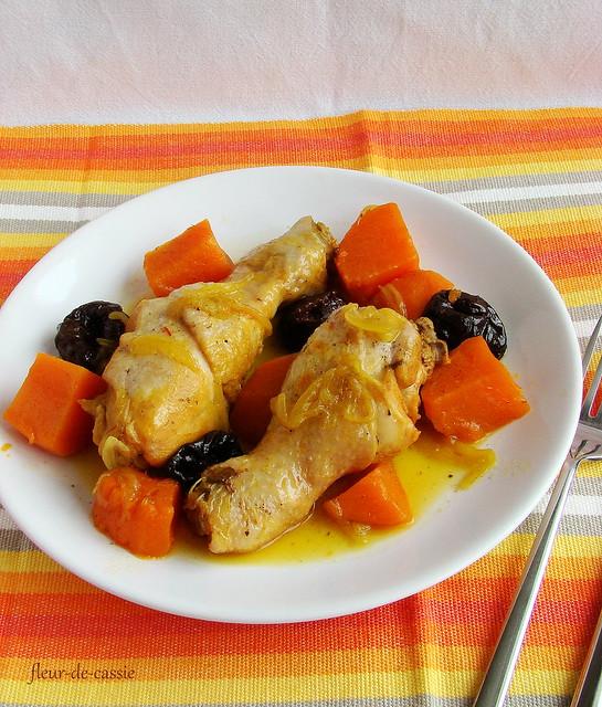 курица с бататом и черносливом 1