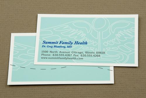 Blue Family Health Business Card