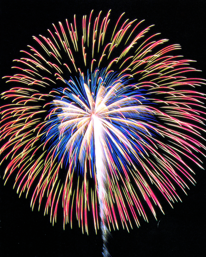 Beautiful Firework Red White And Blue Giant Starburst Ep Flickr