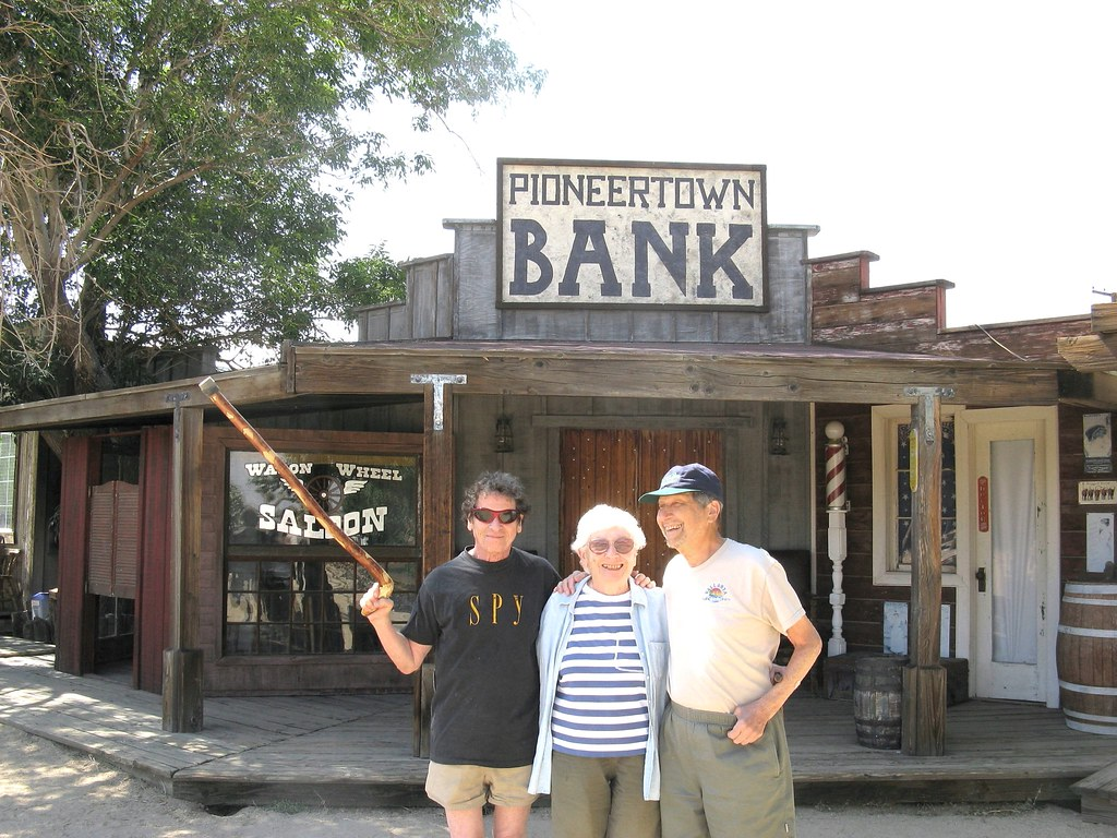 Pk Judith And George At The Pioneertown Bank