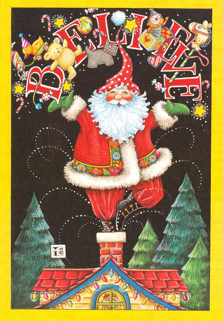 Mary Engelbreit Santa Christmas Card | Mary Pat | Flickr