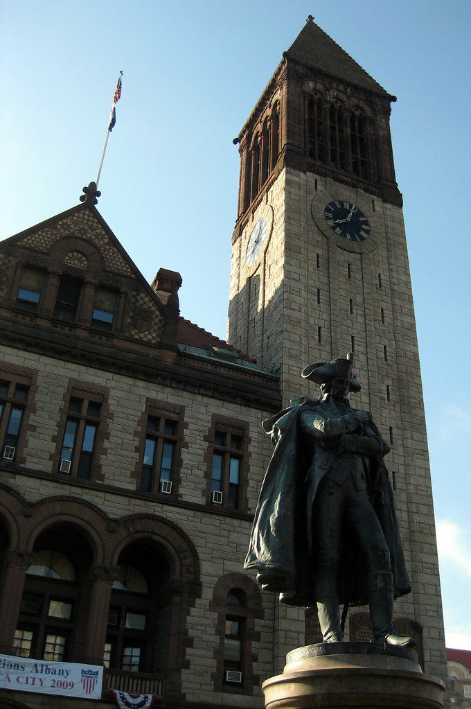 Albany: Albany City Hall And Major General Philip Sch