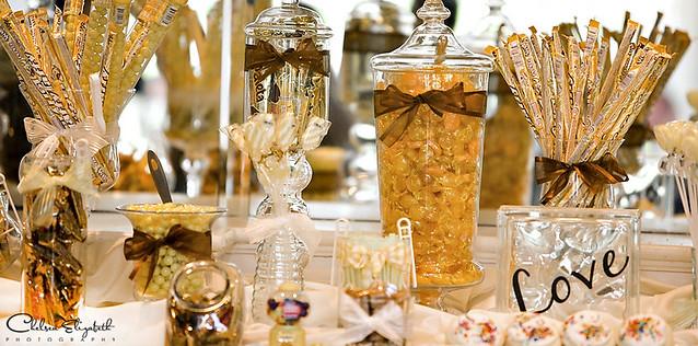 Yellow Candy Bar At Wedding Reception