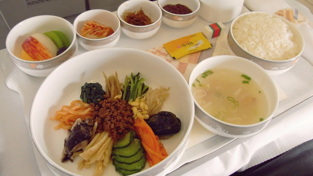 Business class inflight meal asiana mixing and for Asiana korean cuisine restaurant racine