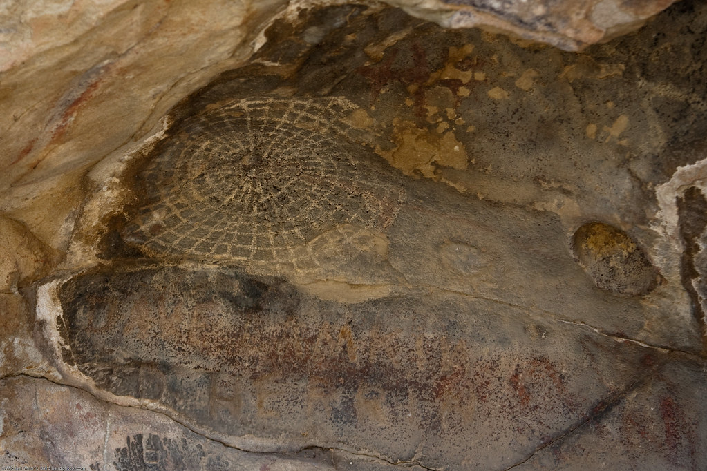 Pictographs On Painted Rock At The Carrizo Plain National