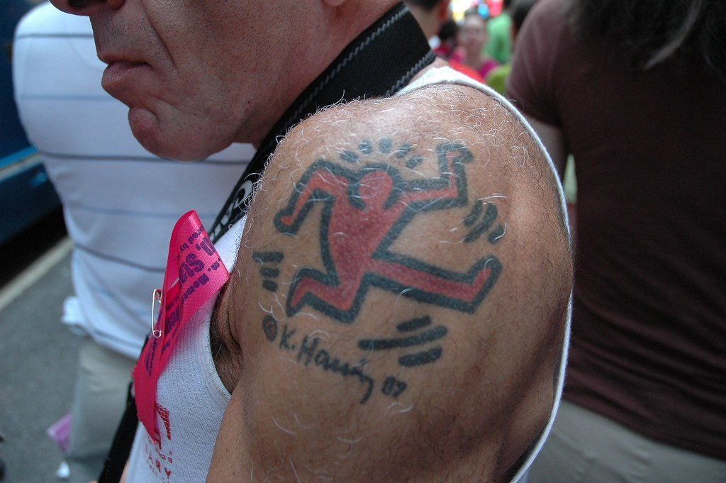 Keith Haring Tattoo at the New York Pride Parade | Hrag