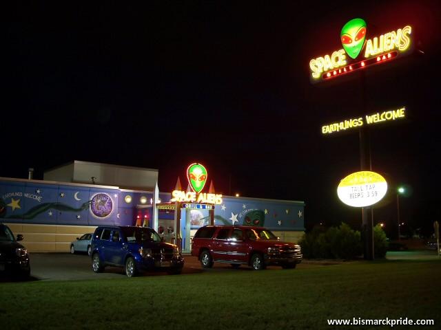 Space Aliens Restaurant Bismarck North Dakota