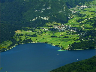 Bohinj lakeside from air | by ufoncz