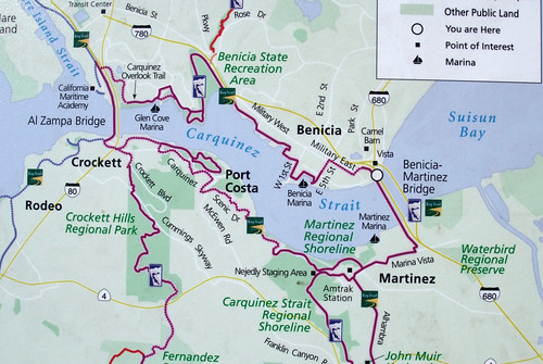 Benicia Bridge bicycle map | by ccorlew