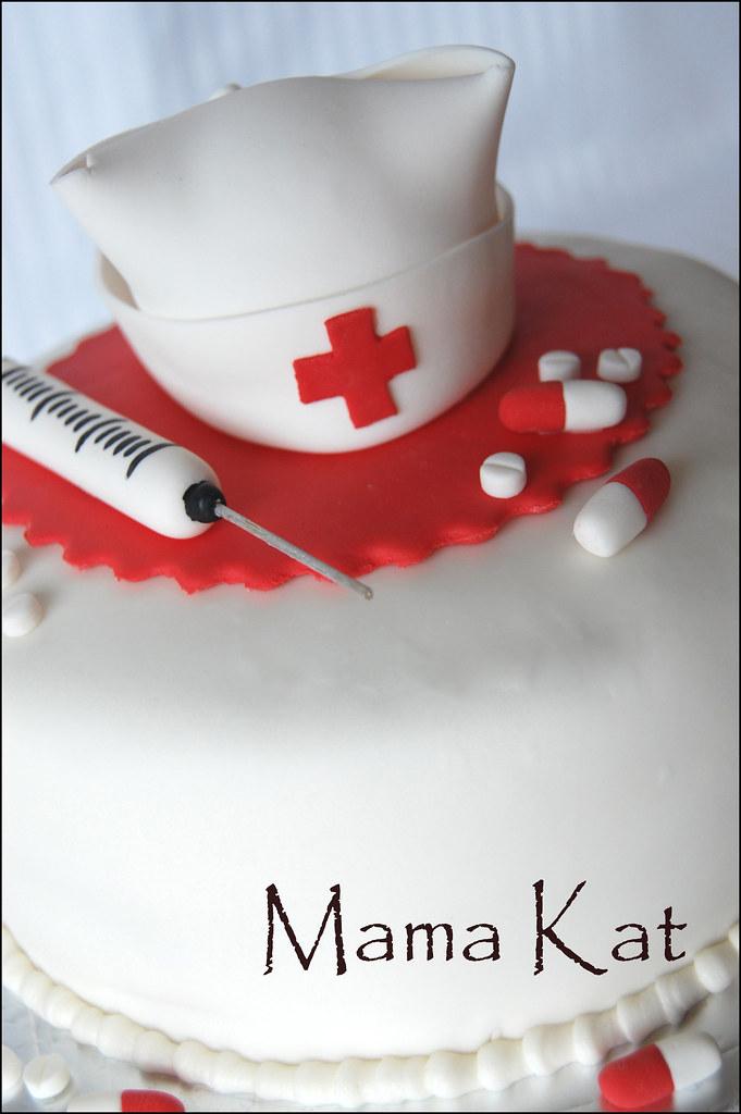 Nurse Cake My Cousin Requested A Cake With A Nurse S Cap