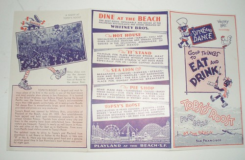 30'S 40'S MENU TOPSY'S ROOST PLAYLAND AT THE BEACH SAN FRANCISCO CALIF. | by ussiwojima