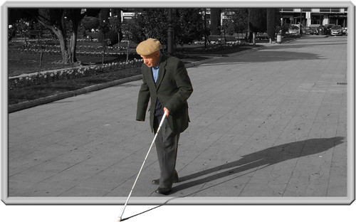 Blind Man   See original photograph or desaturated non ...