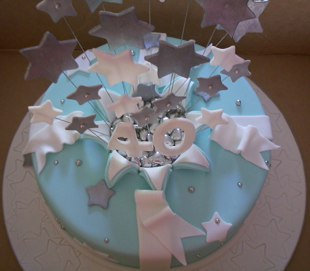 Top View Of Explosion Rip Cake. White C…