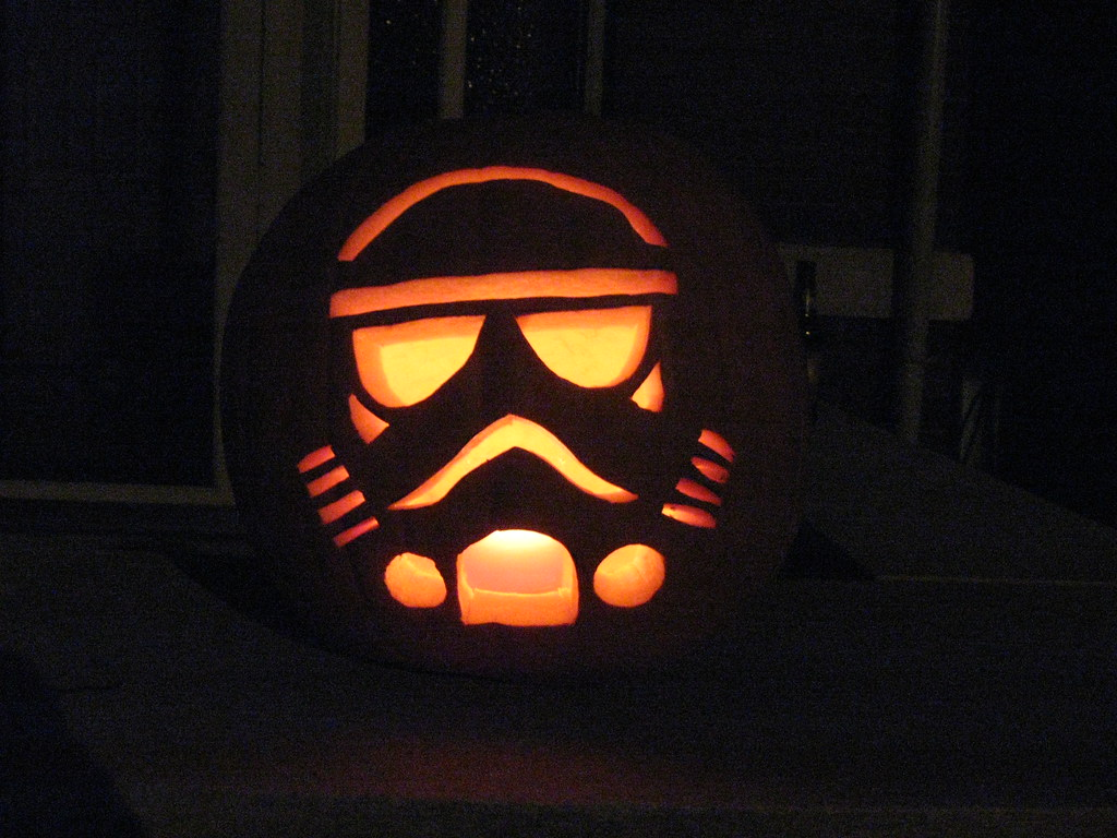 Stormtrooper jack o lantern one of our two