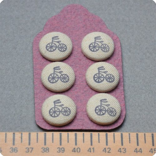 Hand-Stamped fabric covered buttons | by Memi The Rainbow