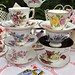 Mixed vintage china teacups and saucers tea set
