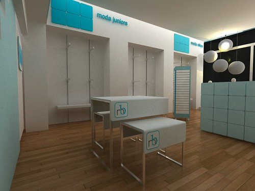 Diseño de Muebles para tiendas infantiles Concepto de Diseño de