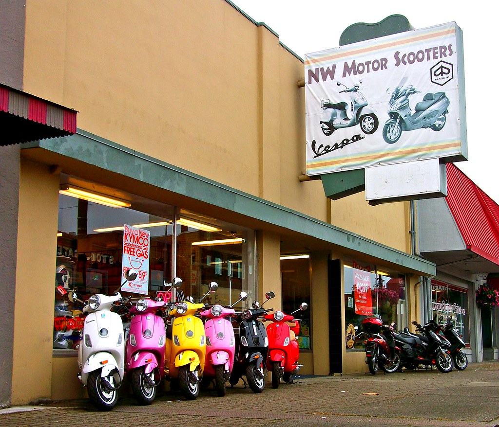 South Tacoma Vespa Dealership Nw Motor Scooters 5428 S