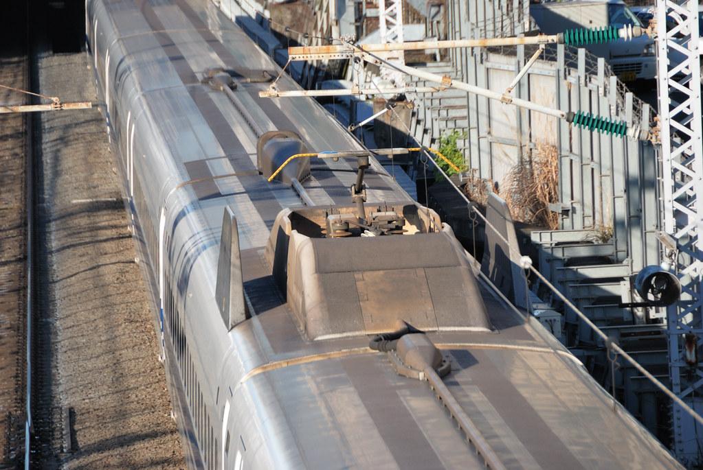Shinkansen 700 Series Train S Roof The Pantograph Has