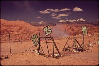 Entrance to the Moab City Dump. Signs Warn Local Residents That Cattle Carcasses Are Not Accepted, 05/1972 | by The U.S. National Archives
