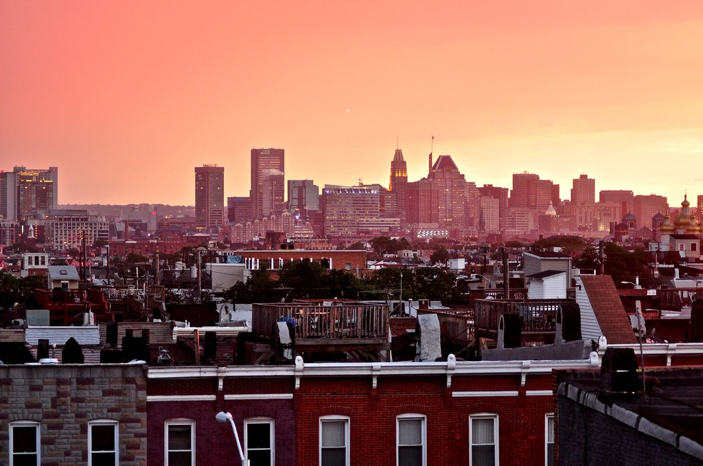 Baltimore City Taken From My Rooftop Deck Check Out The