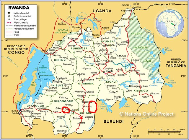 map of rwanda by the business community