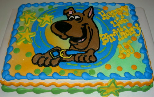 Cake scooby doo sheet stacey 39 s sweets flickr for Scooby doo cake template