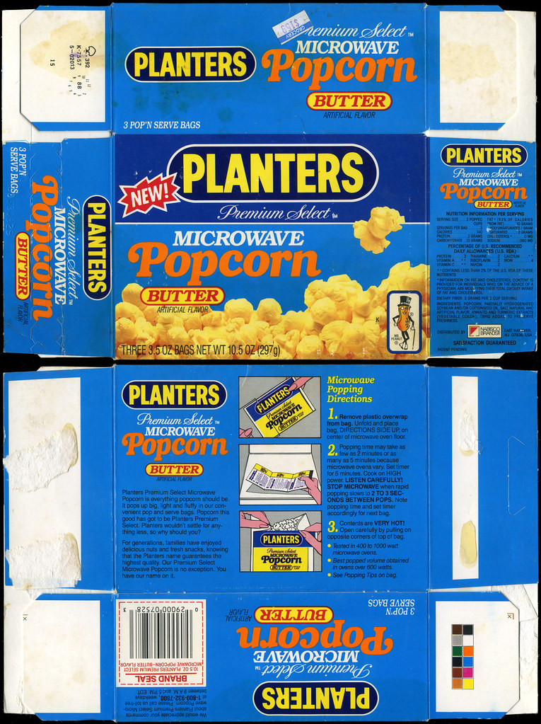 Planters Microwave Popcorn With Butter New Box 19