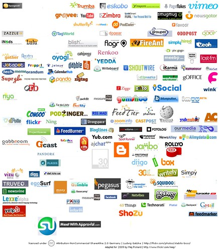 web companies from the original web 20 logo collage which