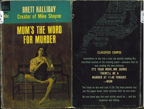Mum's the Word for Murder | by Brett Halliday, c1938 ...