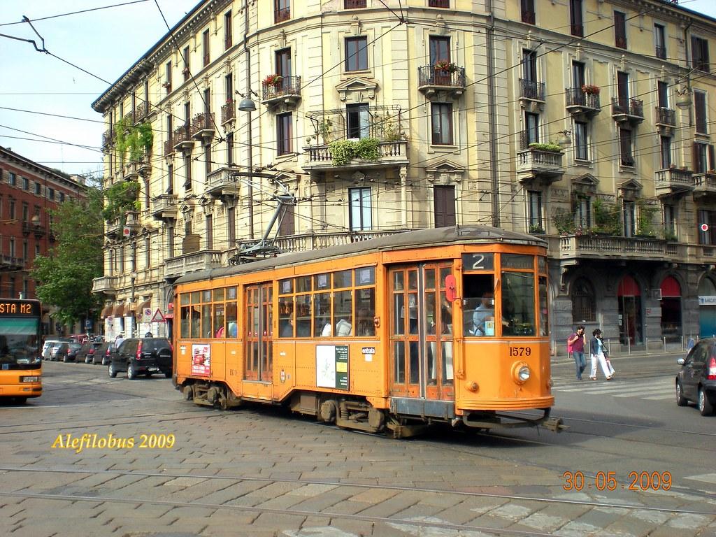 Milano tram ventotto n 1579 linea 2 porta genova flickr - Carabinieri porta genova milano ...