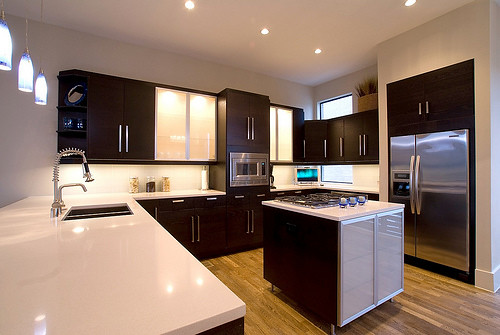 Kitchen ikea black brown cabinets kitchen beautifully - 10x10 kitchen designs with island ...
