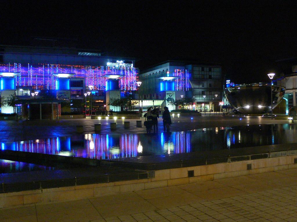 Credit Report Com >> Millenium square in Bristol at night | This photo links to ...