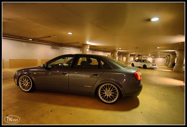 Audi A4 Nightshot1 Audi A4 B6 With Bbs Wheels In