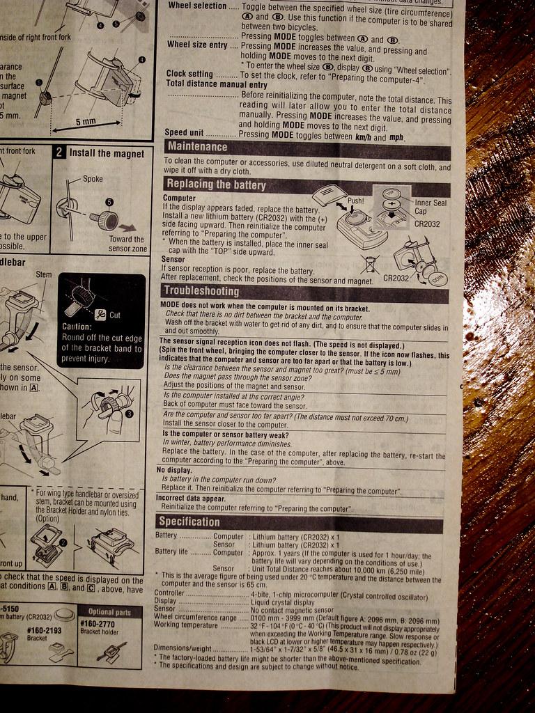 Cateye Strada Wireless Manual 4 Doug D Flickr