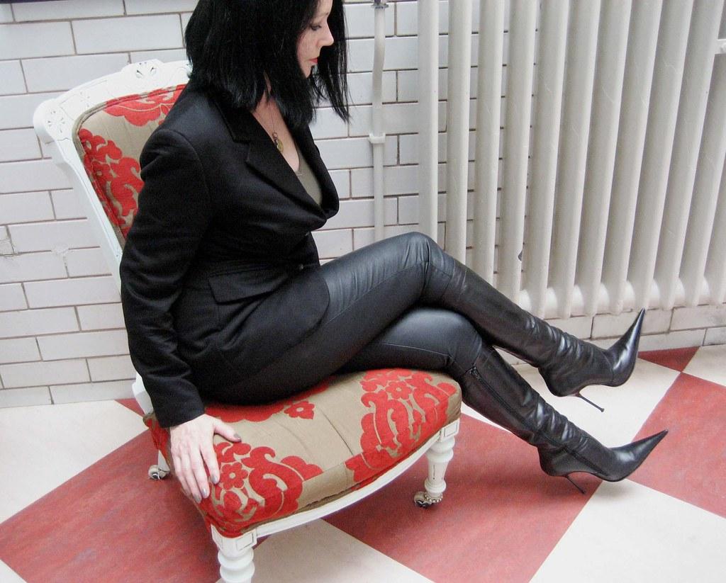 black boot high knee sexy