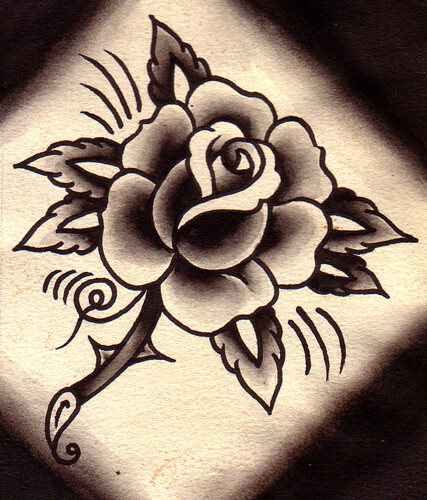 Rose Tattoo Flash | Lotsa black. | Chris Hold | Flickr