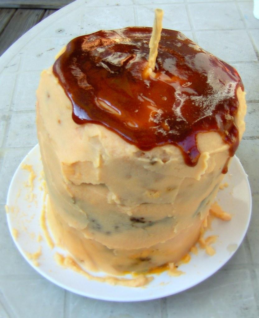 Meatloaf Birthday Cake