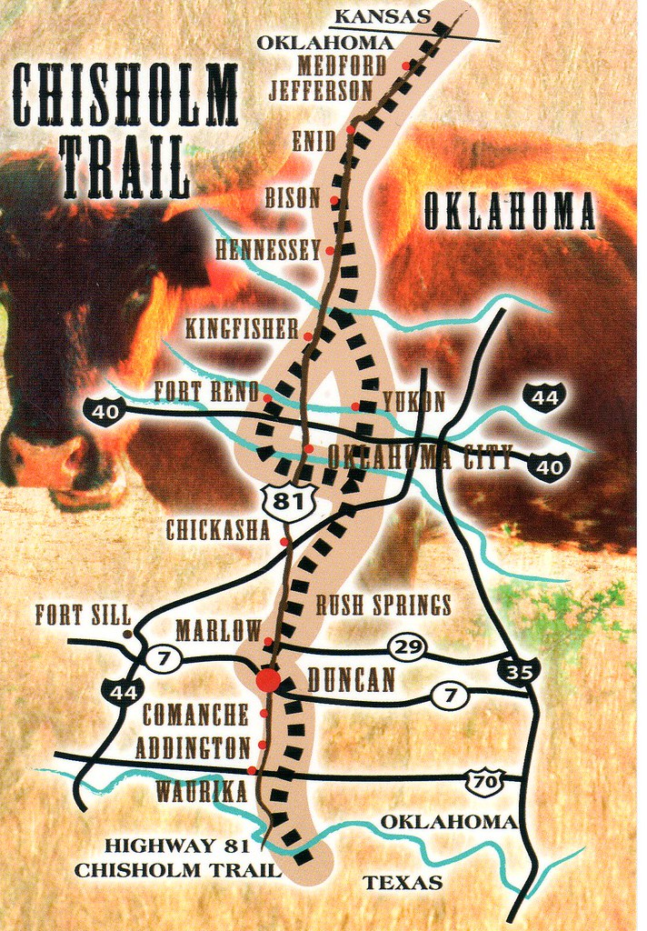 OK Chisholm Trail Map Nhigh Flickr - Chisholm trail map