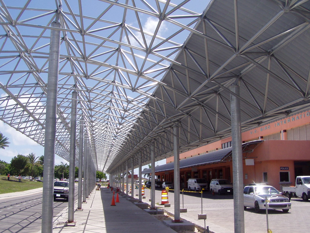 Antigua airport canopy | by Triodetic Antigua airport canopy | by Triodetic & Antigua airport canopy | Antigua airport canopy (second phasu2026 | Flickr