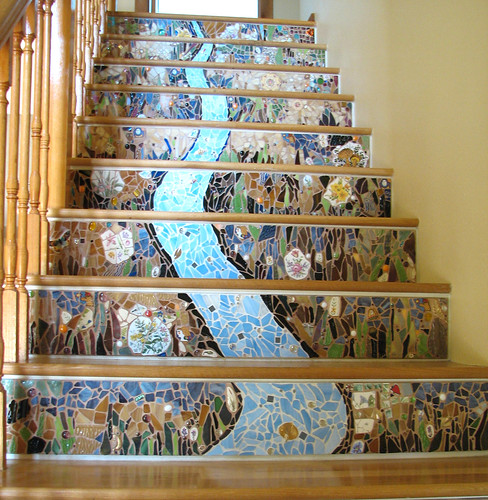 Mosaic Stair Risers These Took Almost A Year To Complete