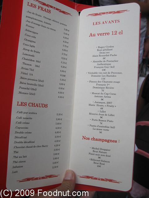 Le comptoir du relais saint germain paris france menu for Le comptoir toulousain du carrelage