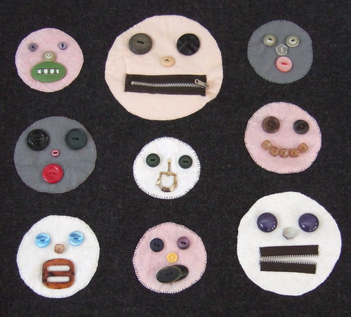 button faces | by kitsch&curious