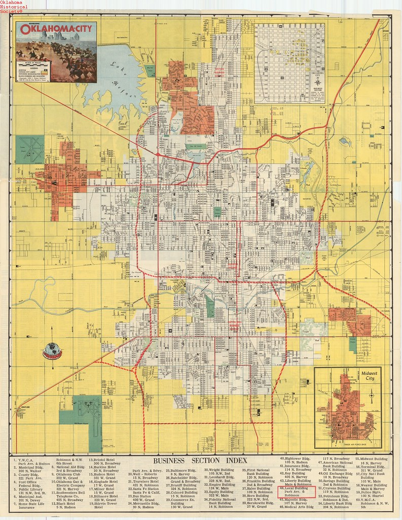 Oklahoma city map 1955 date 1955 ohs map collections www flickr oklahoma city map 1955 by oklahoma historical society research gumiabroncs Image collections