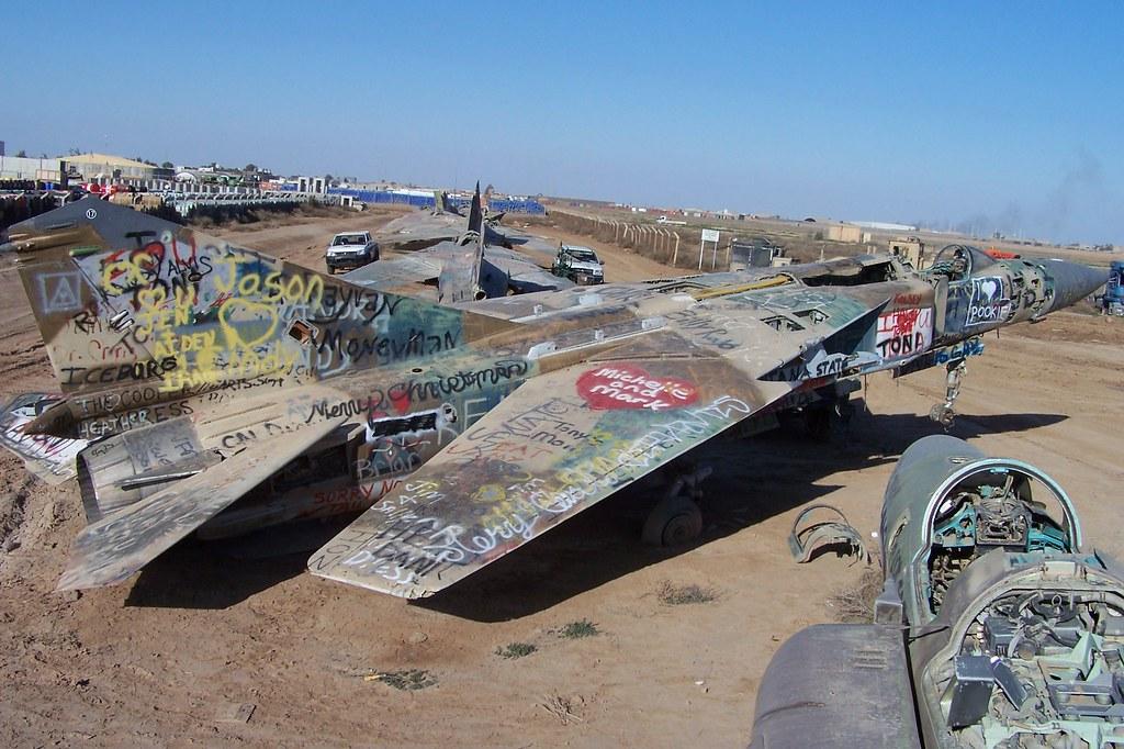 Iraqi Air Force MiG-23 - Joint Base Balad, Iraq | A group of ...
