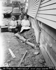 Three girls beside house, 1916 | by Seattle Municipal Archives